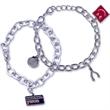 Link Charm Bracelet with 1 Charm - Link charm bracelet with 1 charm.