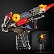 Light Up Toy Silver Ray Gun