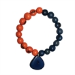 Half & Half Bracelet With Charm - Bracelet with charm available in a variety of colors.