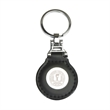 Leatherette and metal circle keytag Clearance