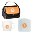 Soup and Sandwich Lunch Kit - Soup and sandwich lunch kit including mug with spook and fork set, sandwich container and lunch bag.