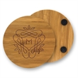 Round Bamboo Coaster - Round coaster made from Earth friendly bamboo. Wood grain appearance.