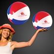 Patriotic Beach Ball - Inflatable patriotic beach ball.