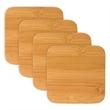 Bamboo Coasters - Bamboo, Natural Finish