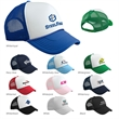 Valucap Foam Trucker Cap - Structured, five-panel trucker cap made of 100% polyester foam front with a soft mesh back, pre-curved visor and more.