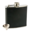 Monte Carlo Flask - Stainless Steel Flask, Faux Leather, 6 oz, Funnel Included
