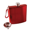 Carabiner Hip Flask - Stainless Steel flask, Twist lid, funnel, and carabiner, 6 oz capacity.