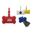 Bone shaped dog waste bag dispensor - These bone shaped dispenser keeps your pet's favorite walking route clean.