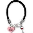 Custom Silicone Charm Bracelet with 2 Charms - Silicone charm bracelet with 2 charms.