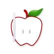 Memo Board - Apple Shape Wipe Off Board - Apple shape memo board with dry eraser marker with C-clip.