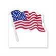 Memo Board - Flag Shape Wipe Off Board - Memo board with US flag and dry eraser marker with C-clip.