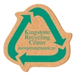 """Coaster - 5"""" Recycle Symbol Shape Solid Cork Coaster - 5"""" Recycle Symbol Shape Solid Cork Coaster."""