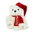 """8"""" Santa Bear with scarf and one color imprint"""