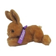 "8"" Bitty Bunny with ribbon and one color imprint - 8"" Bitty Bunny Rabbit with accessory and imprint"