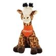 "15"" Giraffe with orange bandana and one color"