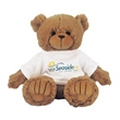 """9"""" Tan Peter Bear with T-shirt and full color imprint"""
