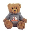 """12"""" Peter Bear Tan with hooded shirt and full color imprint"""