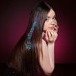 Light Hair Sparkle Clip Extensions