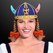 Blinking Viking Helmet with Braided Hair - Blinking Viking Helmet with Braided Hair. 60 Day (12 Week) Imprint Production. Domestic 3-5 Day Imprint Pricing Also Available.