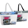 Stadium Tote - Stadium Tote. Clear Tote with Decorative Full color top collar trim.