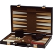 "18"" Brown Backgammon Set - 18"" brown briefcase with latches, handle and backgammon set inside"