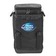 Backpack Case Cooler - Black backpack case cooler.