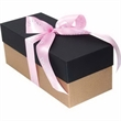 Gift Box with Bottle and Chocolate Covered Raisins
