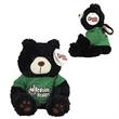"""9"""" Black Bear w/ Green BSH  scrub"""