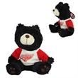 "9"" Black Bear with imprinted shirt"