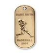 Colonial Dog Tag - Custom shape colonial dog tag with ball chain.