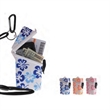 Flower Keep-It Safe® - Hibiscus flower pattern waterproof case for several small items, with nylon lanyard.