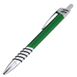 Retractable Click Pen - Metallic colored retractable click pen with chrome tip, plunger and clip.