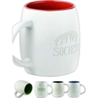 The Pearl Mug - Two tone matte finish Mug with tone on tone deep etch, 14 oz.