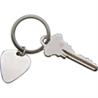 "GUITAR PICK KEY CHAIN,2.5"" L, STAINLESS STEEL - GUITAR PICK KEY CHAIN,2.5"" L, STAINLESS STEEL"
