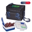 Cool Gear® Lunch-2-Go Combo - Lunch cooler with flatware set and expandable food container.