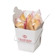 Fortune Cookies in Carry Out Container - Customizable Chinese food carry out containers with 4 fortune cookies inside