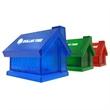 Translucent house shaped piggy bank