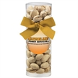 Small Gift Tube with Pistachios - Small gift tube filled with pistachios; includes decorative bow and four-color process label.