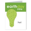 Earth Day Card with Seed Paper Shape: Stock Design Series