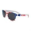 USA Patriotic Miami Sunglasses - Patriotic sunglasses with ultraviolet tinted lenses for UV400 UVA & UVB protection.