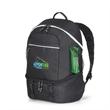 Summit Backpack Cooler - Black polyester backpack cooler.