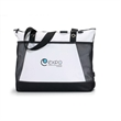 Venture Convention Tote - Polyester business tote with zippered main compartment.