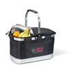 All Purpose Basket Cooler - 30-can polyester collapsible cooler basket with aluminum frame and handle.