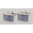 Cufflinks/Button Covers: Professional Design: Stripes - Cufflinks/Button Covers: Professional Design