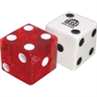 "Custom Opaque Dice with Indented Spots - Custom opaque dice with indented spots. Sizes: 5/8"" and 3/4""."