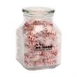 Striped Pepper Mints in Large Glass Jar
