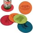 iPOSH COASTER - Polyurethane leather round coaster.