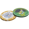 Ceramic Chips, 10.5 Gram - 10.5 gram ceramic poker/casino chips. Designs are printed in full color, edge-to-edge, on both sides of the chips.