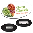 "3"" x 1-1/2"" Oval Plastic Name Tag"