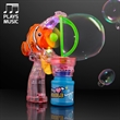 LED Flashing Clown Fish Bubble Gun